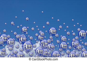 verdadero, burbujas, propiedad