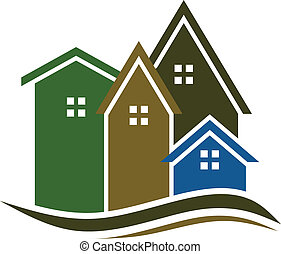 verdadero, casas, propiedad