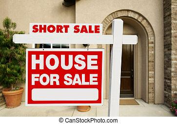 verdadero, cortocircuito, propiedad, casa, muestra de la...