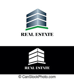 verdadero, edificio, propiedad, logotipo