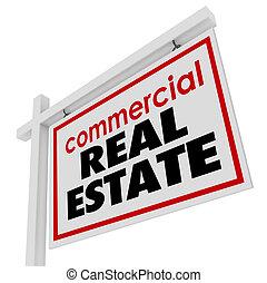 verdadero, edificio, propiedad, oficina, comercial, muestra de la venta, empresa / negocio