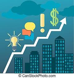 verdadero, estilo, propiedad, empresa / negocio, diagrama,...
