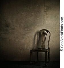 verdadero, foto, sillón, clásico