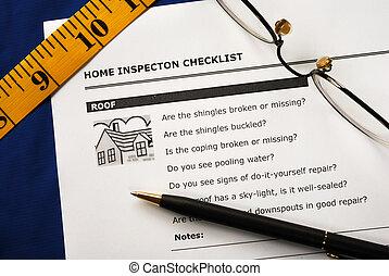 verdadero, informe, inspección, propiedad