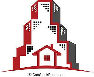 verdadero, logotipo, concepto, propiedad