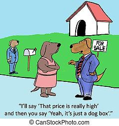 verdadero, negociación, propiedad