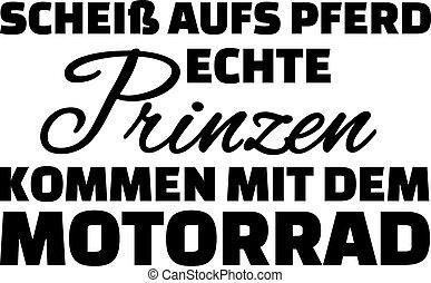 verdadero, olvídese, alemán, arriba, vuelta, motorcycle., ...