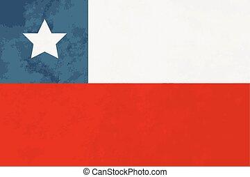 verdadero, proporciones, bandera de chile, con, textura