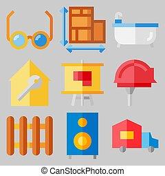 verdadero, sobre, conjunto, bienes, iconos, [keywordrandom:3]