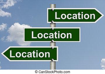 verdadero, sobre, todos, propiedad, ubicación