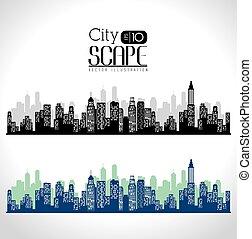 verdadero, urbano, design., propiedad, ciudad