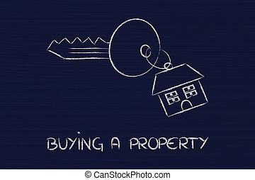 verdadero, venta, propiedad, mercado, compra de casa