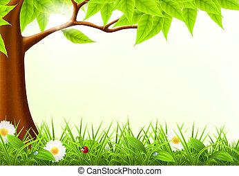 verde, 10eps, árvore, quadro