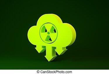verde, 3d, aislado, icono, environment., nube de lluvia,...