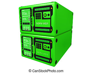 verde, 3d, servidor, #2