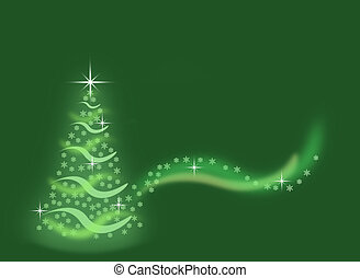 verde, albero natale, fondo