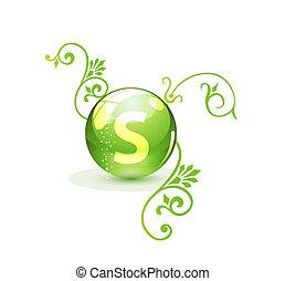 verde, alternativa, concetto, medicazione