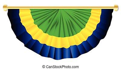 verde, amarela, azul, bunting