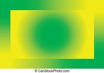 verde-amarelo, abstratos, fundo