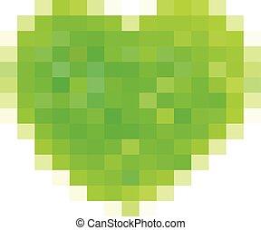 verde, amore, linea