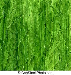 verde, arrugado, acuarela, plano de fondo