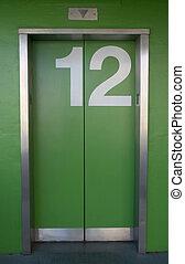 verde, ascensore