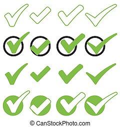 verde, assegno, collezione, contrassegni