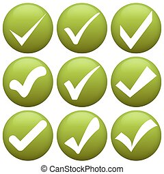 verde, assegno, contrassegni