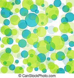verde azul, bokeh, padrão experiência