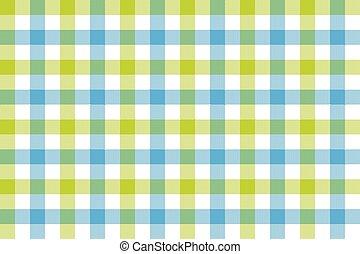 verde azul, cheque, tecido, textura, fundo, seamless, padrão