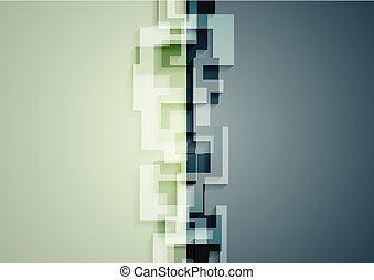 verde azul, tecnología, geométrico, resumen, plano de fondo