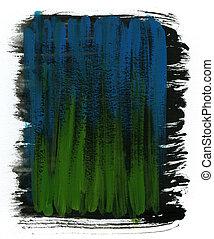 verde, azul, y, negro, acuarela, plano de fondo