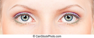 verde azulado, ojos