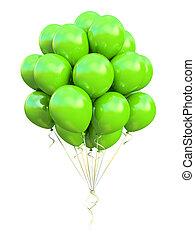 verde, balões