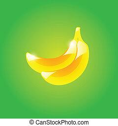 verde, banana, fundo