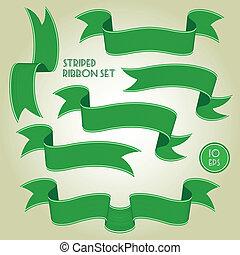 verde, bandeiras, ou, fitas, jogo