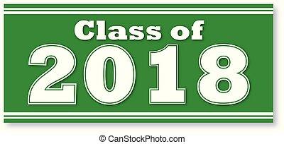 verde, bandiera, classe, 2018