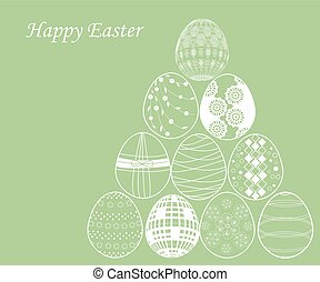 verde bianco, uovo di pasqua, fondo