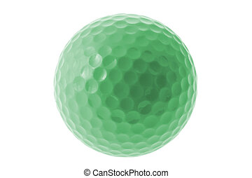 verde, bola golfe