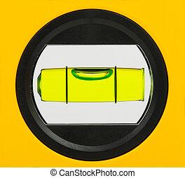 verde, bolha, nível