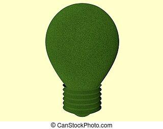verde, bombilla