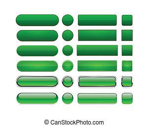 verde, buttons., high-detailed, modernos, teia