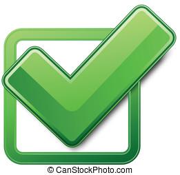verde, caja cheque
