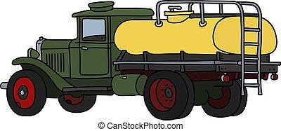 verde, caminhão tanque, amarela, clássicas