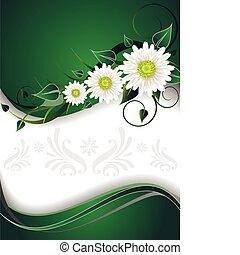 verde, cartão, convite