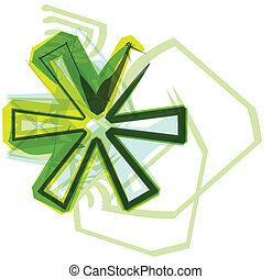 verde, carta