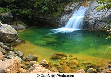 verde, cascata