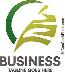 verde, cerchio, foglia, logotipo