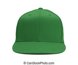 verde, chapéu beisebol