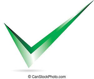 verde, checkmark